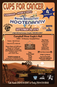 Cups for Cancer Annual Hootenanny @ Campbell River Eagle's Hall